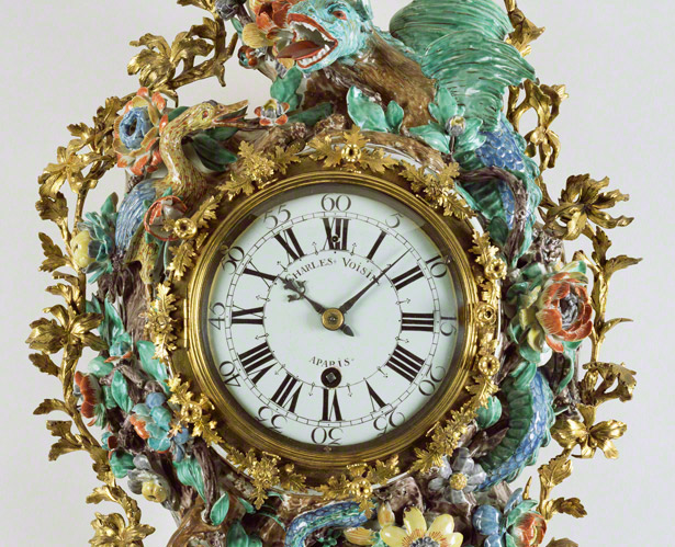 Wall Clock (Pendule d'alcove) / Charles Voisin and Chantilly Porcelain Manufactory