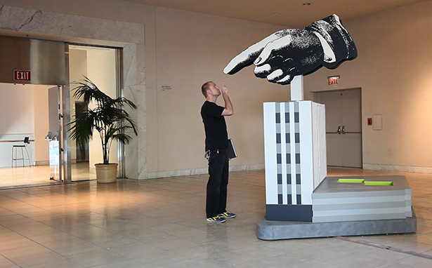 Giant Hand at the Hammer Museum