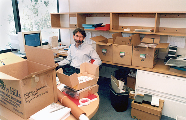 Getty Conservation Institute staff member in Marina del Rey offices, 1996