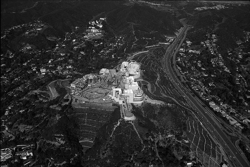 The Getty Center site in January 1996