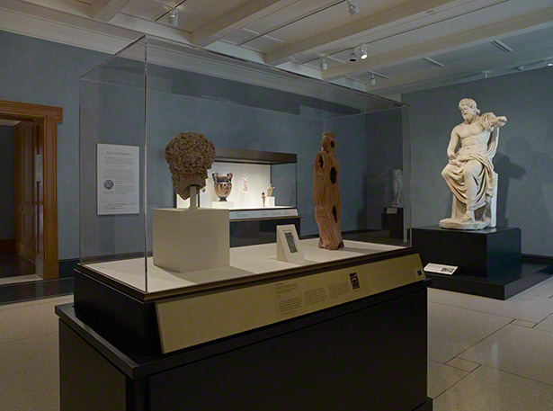 Installation view of The Sanctuaries of Demeter and Persephone at Morgantina at the Getty Villa