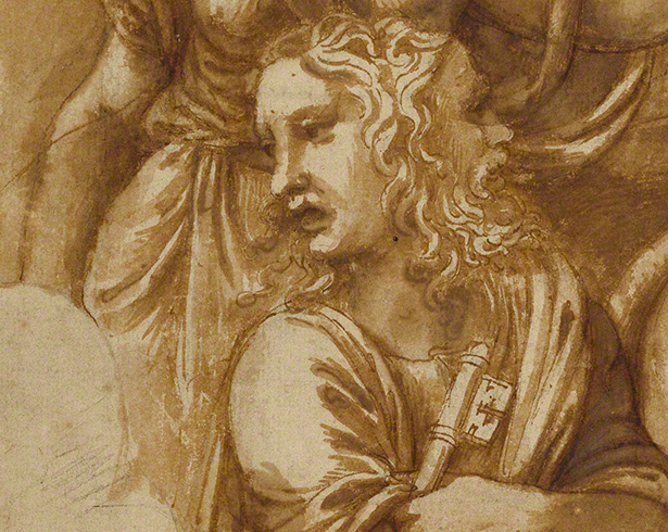 Detail of Janus in Victory, Janus, Chronos, and Gaea / Giulio Romano