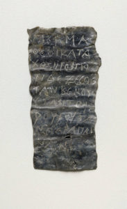 Curse Tablet / found in Morgantina, Sicily