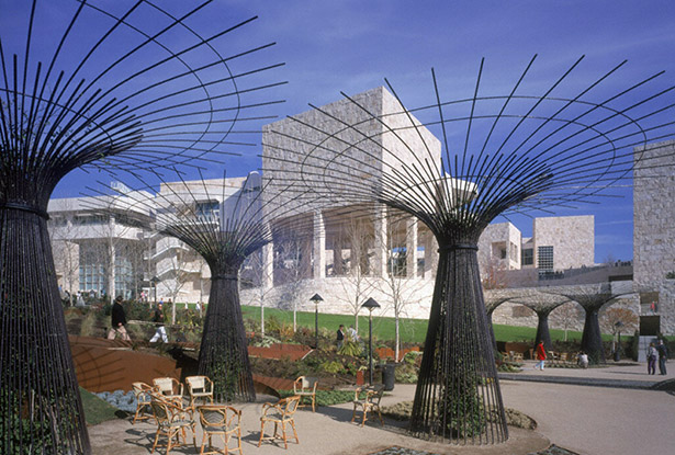 Opening day of the Getty Center, December 16, 1997
