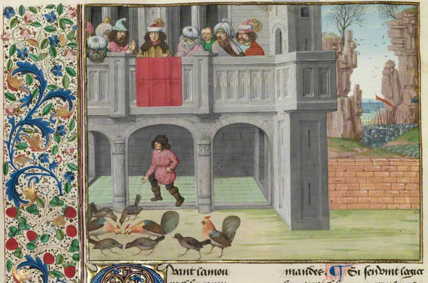 The Parable of the Hens and the Corn / Master of Getty Froissart