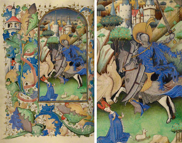 Saint George and the Dragon / Master of Guillebert de Mets