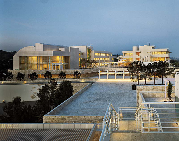 The Getty Center in 1997 - tram arrival plaza