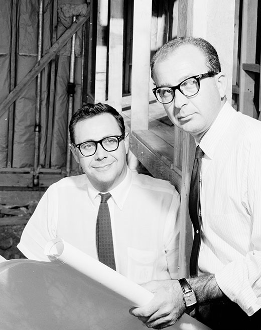 William Krisel and Dan Palmer in 1958