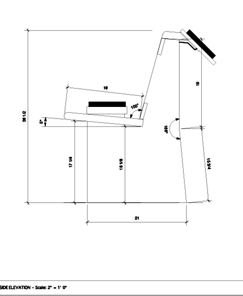 Schematic drawing of the benches in Florence at the Dawn of the Renaissance