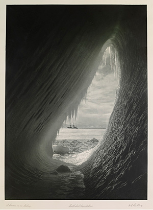 A Cavern in an Iceberg, Herbert George Ponting, from the portfolio Scott's Last Expedition, The British Antarctic Expedition