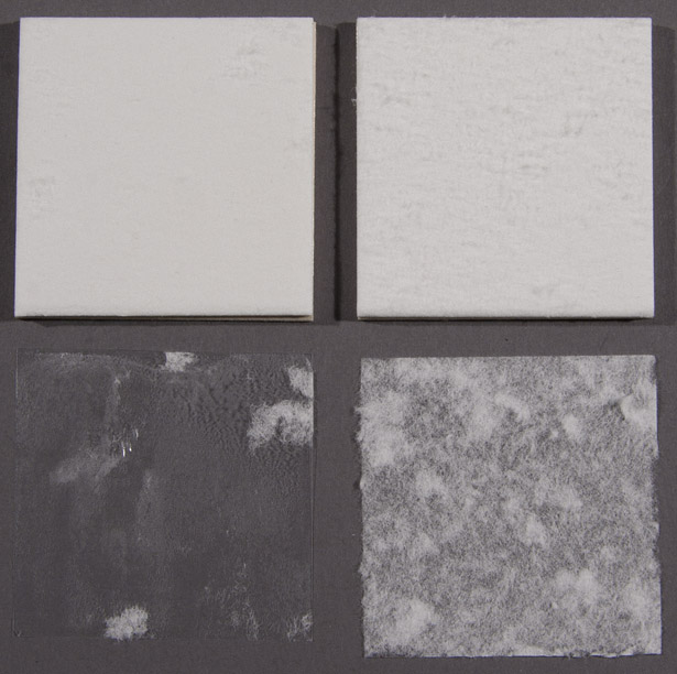 Comparing consolidated blotting paper with non-consolidated blotting paper for the conservation of Mapplethorpe's box