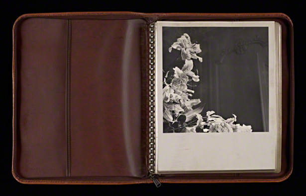 Original leather portfolio with prints / Robert Mapplethorpe