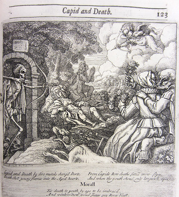 Cupid and Death in Aesop&#039;s fables, 1687