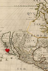 Map of California circa 1600s