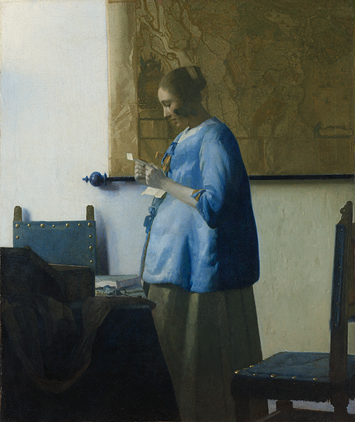 Woman in Blue Reading a Letter / Vermeer