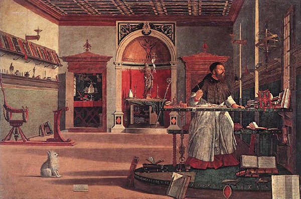 Saint Augustine in His Study / Vittore Carpaccio