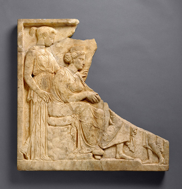 Votive Relief to Demeter and Persephone / Greek