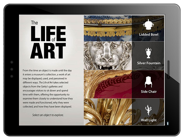 The Life of Art iPad app - screen preview