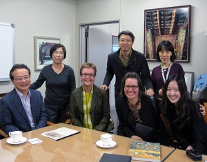Stephanie and I (seated, far right) with colleagues at the National Museum of Korea, Seoul, in November 2011. Back row, standing: left to right: Lee Jae-jeong, Moon Dong Soo, Min Kil-hong. Front row, seated, left to right: Lee Won Bok, Burglind Jungmann, Stephanie Schrader, Jessie Park