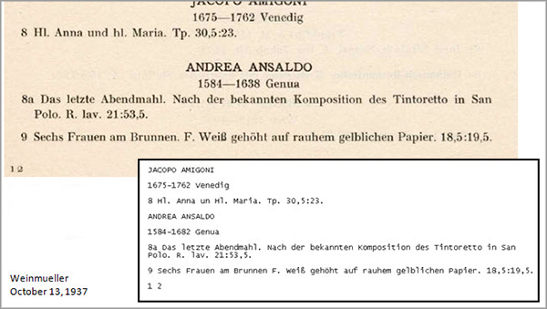 A clean scan: portion of a scanned PDF of a 1937 auction catalog with its OCR-generated text