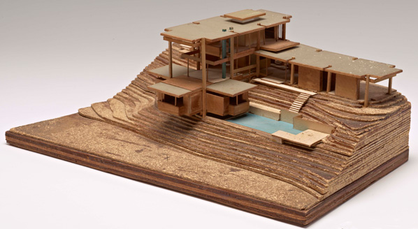 Final model for Gould/LaFetra House by Kappe