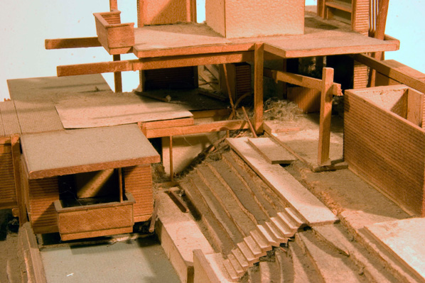 Gould/LaFetra House model before treatment