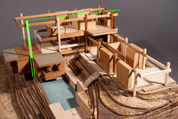 Gould/LaFetra House model reconstructions