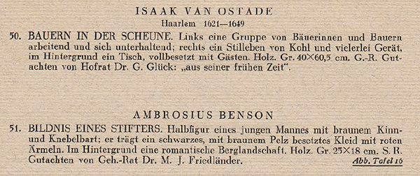 Portion of a scanned page from a 1937 German sales catalog, showing its formatting