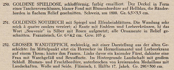Portion of a scanned page from a different German sales catalog, showing its formatting