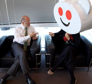 Jim sits down with Snoo, Reddits alien mascot