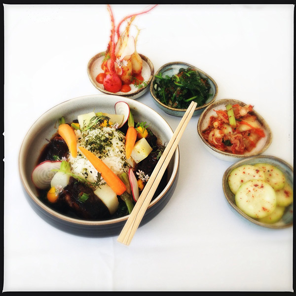 Korean cooking at the Getty
