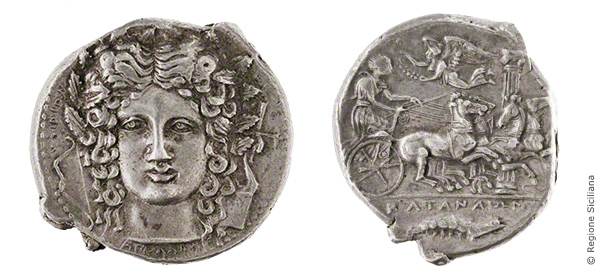 Coin with a Head of Apollo / Choirion
