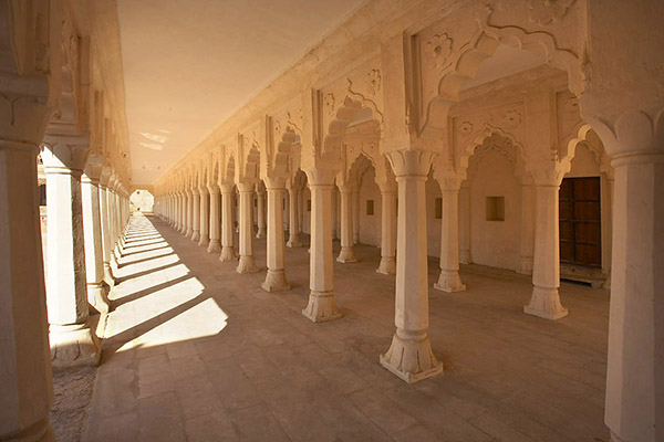 Nagaur Fort Pillared Hall, after conservation. Photo: Neil Greentree