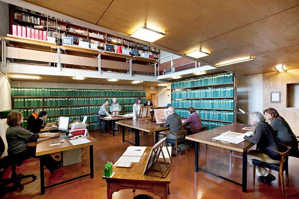 Study room of the Gabinetto Disegni e Stampe degli Uffizi
