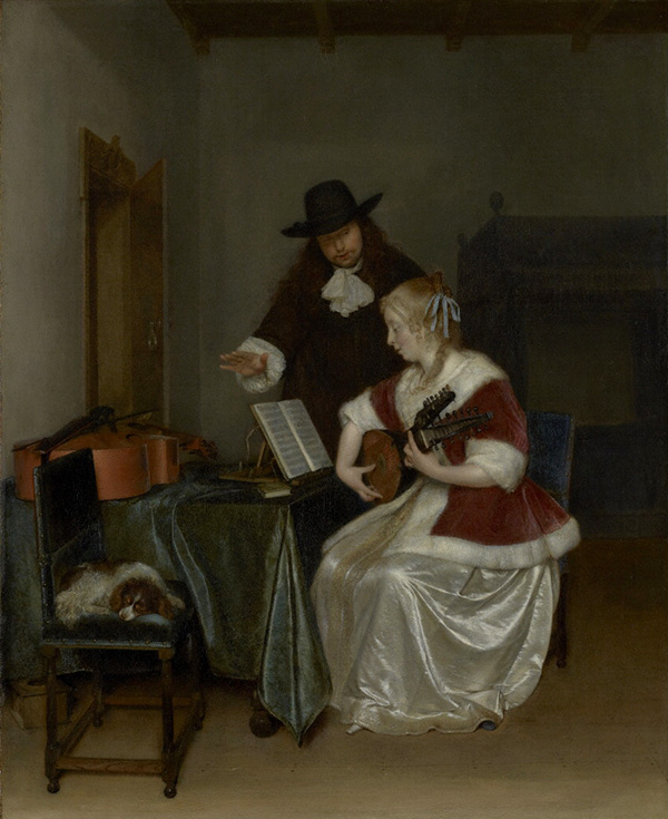 The Music Lesson / Gerard Ter Borch