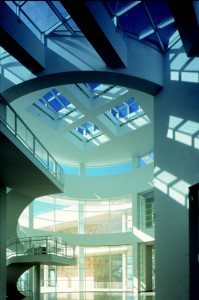 Museum Entrance Hall at the Getty Center, designed by Richard Meier