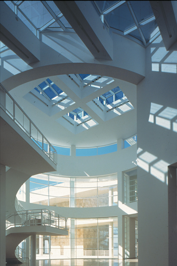 The Museum Entrance Hall at the Getty Center, designed by Richard Meier