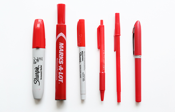Red pens, the editor's stock-in-trade