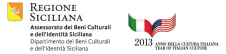 Regione Siciliana and Anno della Cultura Italian / partner logos for Sicily: Art and Invention between