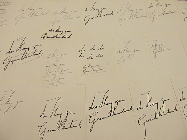 Notes for Der Hang zum Gesamtkunstwerk / Harald Szeemann