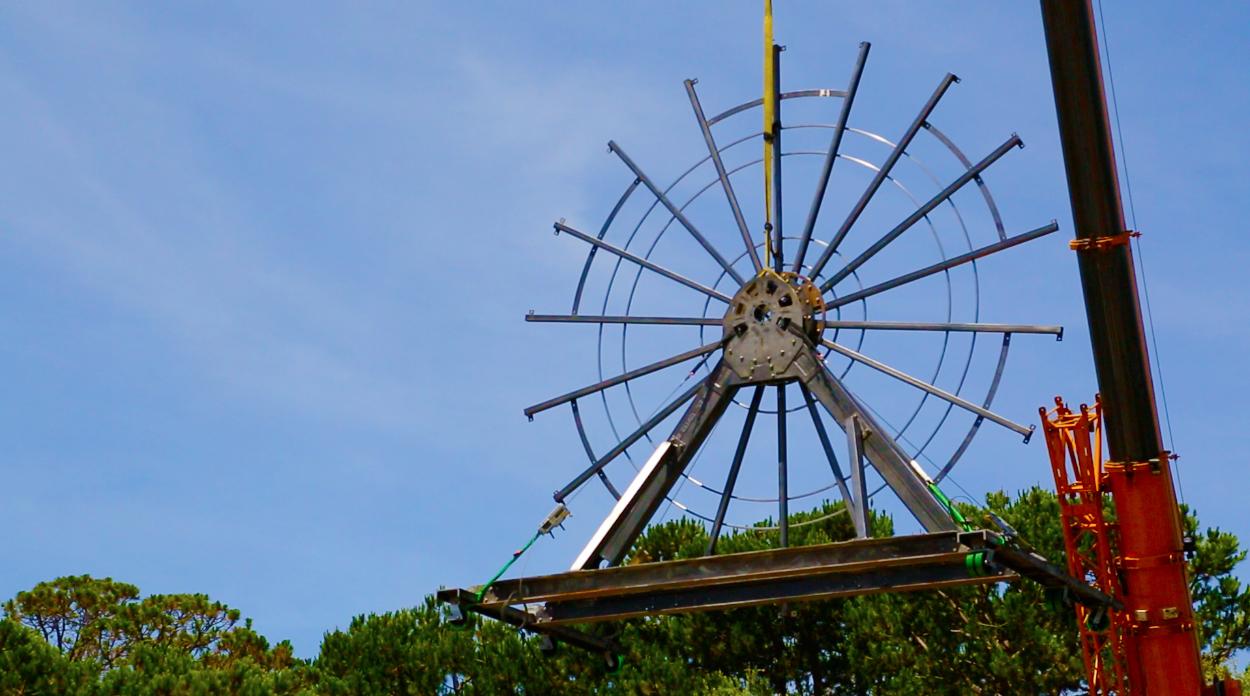 """Five-Ton Wheel Takes Center Stage for """"Prometheus Bound"""""""