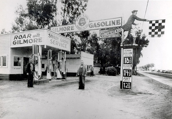 Gilmore gas station, Banning, CA