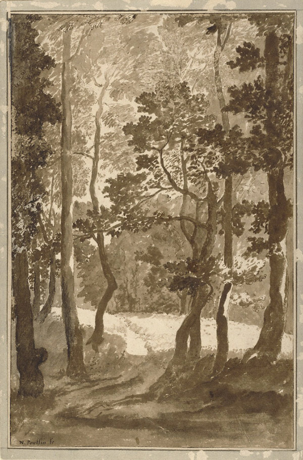 A Path Leading into a Forest Clearing / Nicolas Poussin