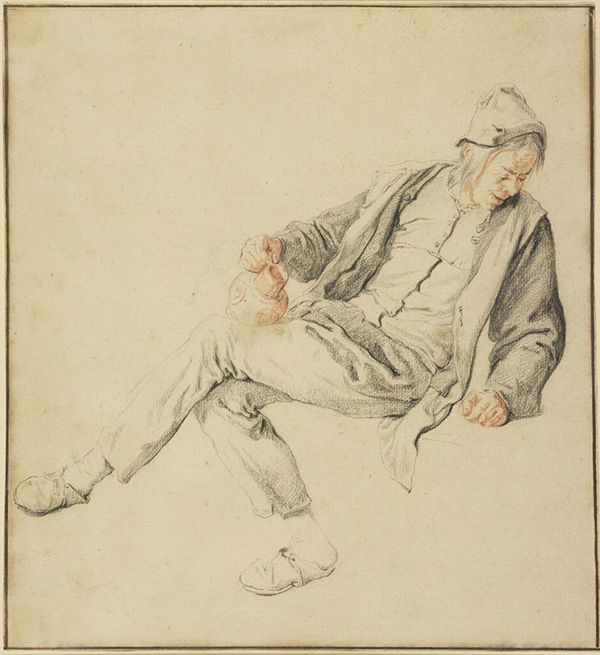 Seated Peasant Holding a Pitcher / Cornelis Dusart