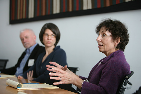 Judy Metro, Sarah Roberts, and James Ulak at an OSCI convening, 2009