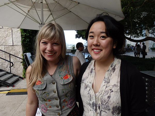Basia Bulat and Rosie Narasaki at Saturdays Off the 405 at the Getty Center