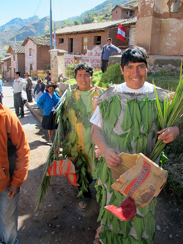 Villagers in Kuno Tambo, Peru, celebrate a visit by the minister of culture