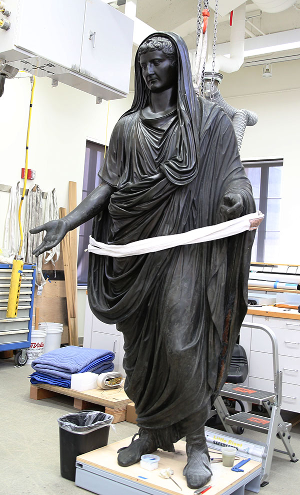 Statue of Tiberius / Conservation work