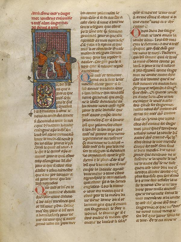 Page in Roman du Bon Chevalier Tristan, Fils au Bon Roy