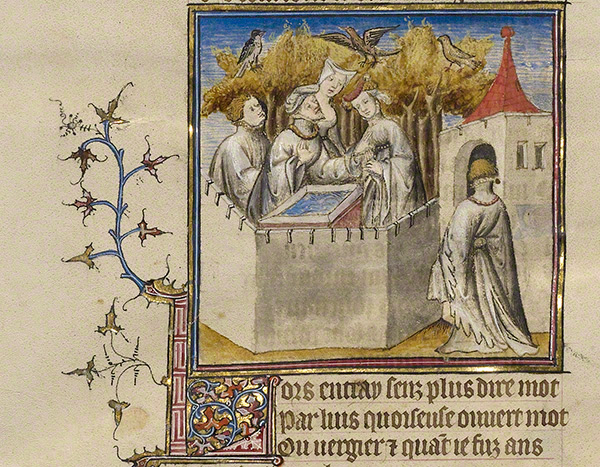 The Lover Views the Garden in Romance of the Rose / Unknown illuminator